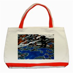 Colorful Reflections In Water Classic Tote Bag (red)