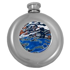 Colorful Reflections In Water Round Hip Flask (5 Oz)