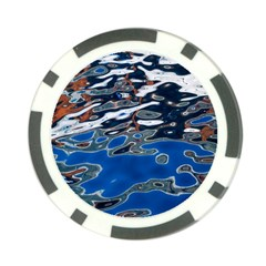 Colorful Reflections In Water Poker Chip Card Guard (10 Pack)