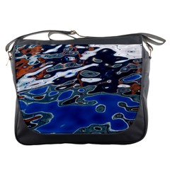 Colorful Reflections In Water Messenger Bags