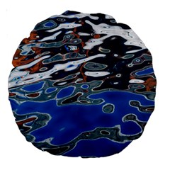 Colorful Reflections In Water Large 18  Premium Round Cushions