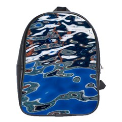 Colorful Reflections In Water School Bags (XL)