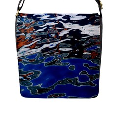 Colorful Reflections In Water Flap Messenger Bag (L)