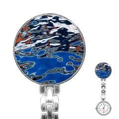 Colorful Reflections In Water Stainless Steel Nurses Watch