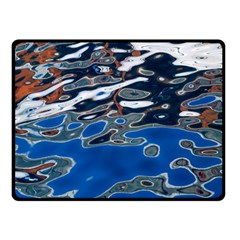 Colorful Reflections In Water Double Sided Fleece Blanket (small)