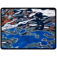 Colorful Reflections In Water Double Sided Fleece Blanket (Large)