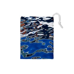 Colorful Reflections In Water Drawstring Pouches (small)