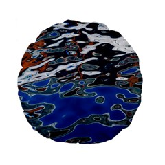 Colorful Reflections In Water Standard 15  Premium Flano Round Cushions