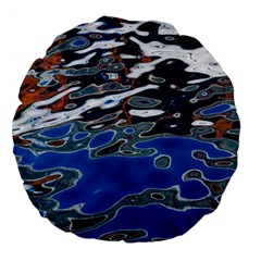 Colorful Reflections In Water Large 18  Premium Flano Round Cushions