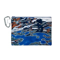 Colorful Reflections In Water Canvas Cosmetic Bag (M)