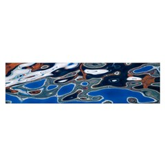 Colorful Reflections In Water Satin Scarf (Oblong)