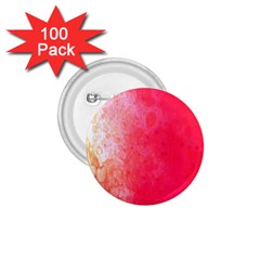 Abstract Red And Gold Ink Blot Gradient 1 75  Buttons (100 Pack)
