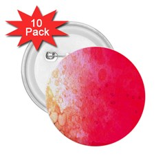 Abstract Red And Gold Ink Blot Gradient 2 25  Buttons (10 Pack)
