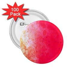 Abstract Red And Gold Ink Blot Gradient 2 25  Buttons (100 Pack)