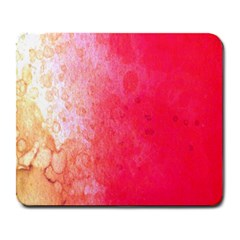 Abstract Red And Gold Ink Blot Gradient Large Mousepads