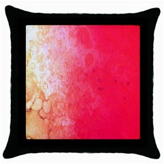 Abstract Red And Gold Ink Blot Gradient Throw Pillow Case (Black)