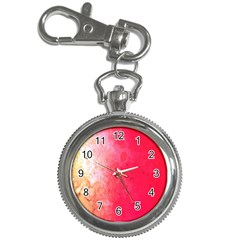 Abstract Red And Gold Ink Blot Gradient Key Chain Watches