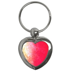 Abstract Red And Gold Ink Blot Gradient Key Chains (Heart)