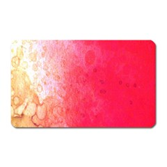 Abstract Red And Gold Ink Blot Gradient Magnet (rectangular)