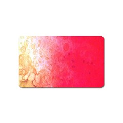 Abstract Red And Gold Ink Blot Gradient Magnet (name Card)