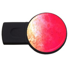 Abstract Red And Gold Ink Blot Gradient Usb Flash Drive Round (2 Gb)