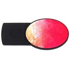 Abstract Red And Gold Ink Blot Gradient Usb Flash Drive Oval (2 Gb)