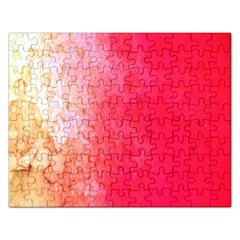 Abstract Red And Gold Ink Blot Gradient Rectangular Jigsaw Puzzl