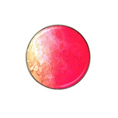 Abstract Red And Gold Ink Blot Gradient Hat Clip Ball Marker