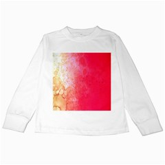 Abstract Red And Gold Ink Blot Gradient Kids Long Sleeve T Shirts