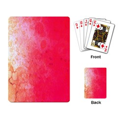 Abstract Red And Gold Ink Blot Gradient Playing Card