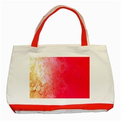 Abstract Red And Gold Ink Blot Gradient Classic Tote Bag (red)