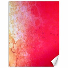 Abstract Red And Gold Ink Blot Gradient Canvas 12  X 16