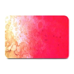 Abstract Red And Gold Ink Blot Gradient Plate Mats