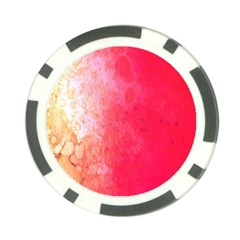 Abstract Red And Gold Ink Blot Gradient Poker Chip Card Guard