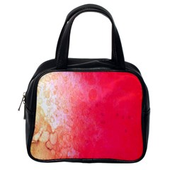 Abstract Red And Gold Ink Blot Gradient Classic Handbags (one Side)