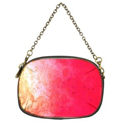 Abstract Red And Gold Ink Blot Gradient Chain Purses (two Sides)