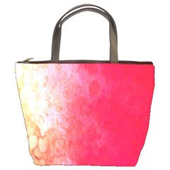 Abstract Red And Gold Ink Blot Gradient Bucket Bags