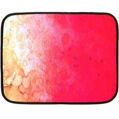 Abstract Red And Gold Ink Blot Gradient Double Sided Fleece Blanket (mini)