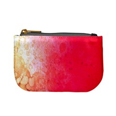 Abstract Red And Gold Ink Blot Gradient Mini Coin Purses