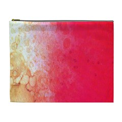 Abstract Red And Gold Ink Blot Gradient Cosmetic Bag (xl)