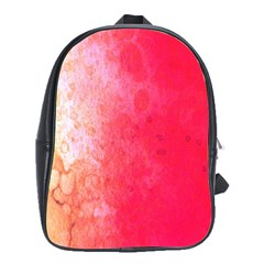 Abstract Red And Gold Ink Blot Gradient School Bags(large)