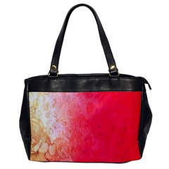 Abstract Red And Gold Ink Blot Gradient Office Handbags