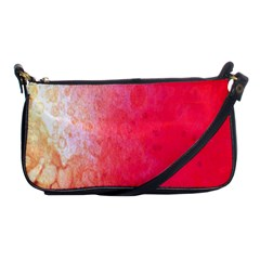 Abstract Red And Gold Ink Blot Gradient Shoulder Clutch Bags
