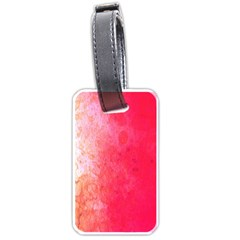 Abstract Red And Gold Ink Blot Gradient Luggage Tags (two Sides)
