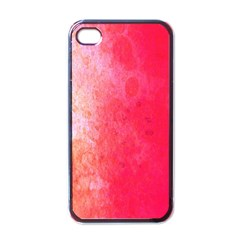 Abstract Red And Gold Ink Blot Gradient Apple Iphone 4 Case (black)