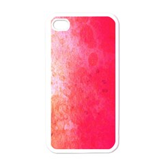 Abstract Red And Gold Ink Blot Gradient Apple Iphone 4 Case (white)