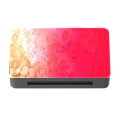 Abstract Red And Gold Ink Blot Gradient Memory Card Reader With Cf