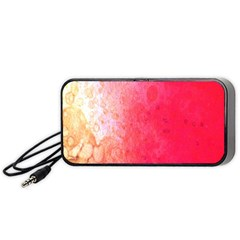 Abstract Red And Gold Ink Blot Gradient Portable Speaker (black)