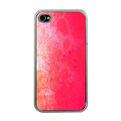 Abstract Red And Gold Ink Blot Gradient Apple iPhone 4 Case (Clear)