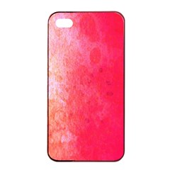 Abstract Red And Gold Ink Blot Gradient Apple Iphone 4/4s Seamless Case (black)